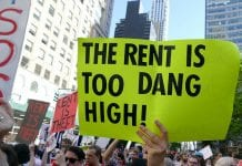"""""""rent is too dang high"""" poster"""