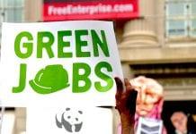 """""""green jobs"""" sign"""