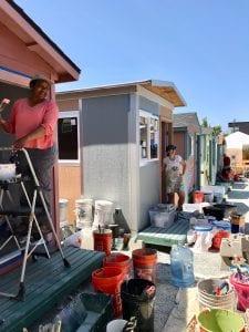 volunteer paint party