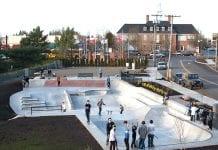 skaters at skate park
