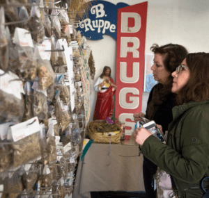 Customers at the B. Ruppe Drugstore in Albuquerque, N.M.