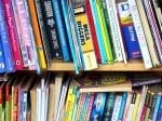 libraries have books on a bookshelf