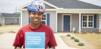 affordable housing woman in hard hat