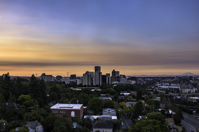 The Portland, Oregon, skyline. The city's preference policy shows how a city can make an investment without displacement.
