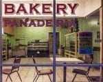 view from street of empty bakery