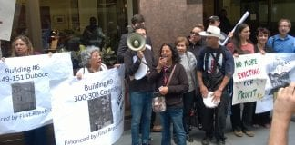displacement protest