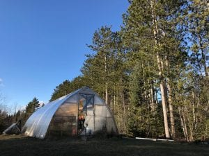 Greenhouse on Fond du Lac Tribal and Community College campus.