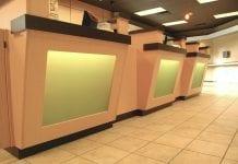 bank brach counters