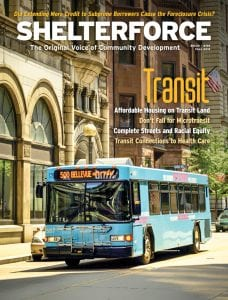 The cover of the Fall 2019 edition of Shelterforce magazine, which focused on transportation.