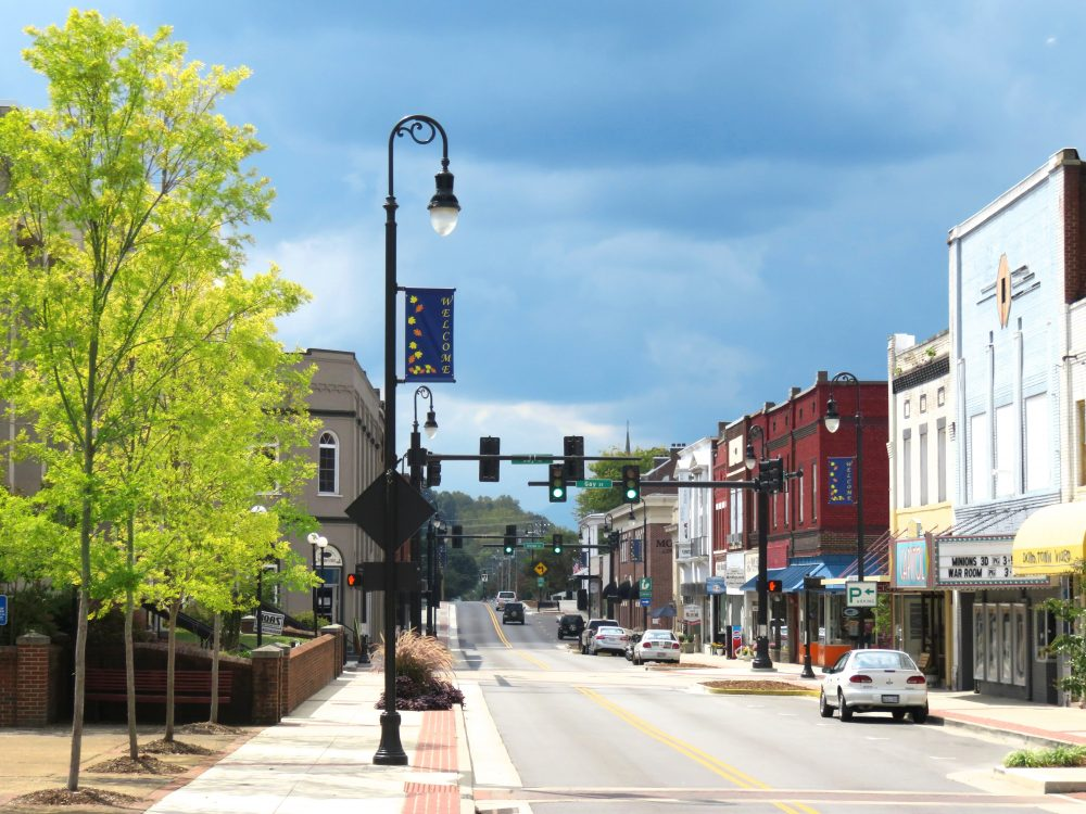 A walkable street in Tennessee.