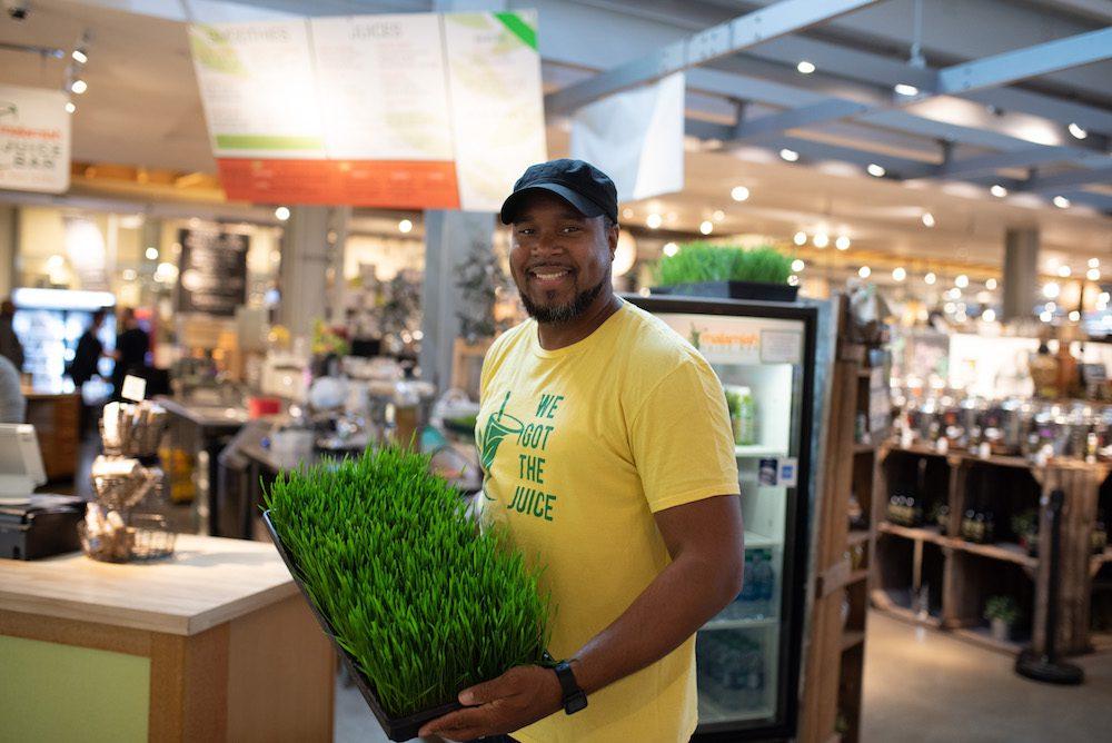 Food entrepreneur at the Malamiah Juice Bar. Food equity