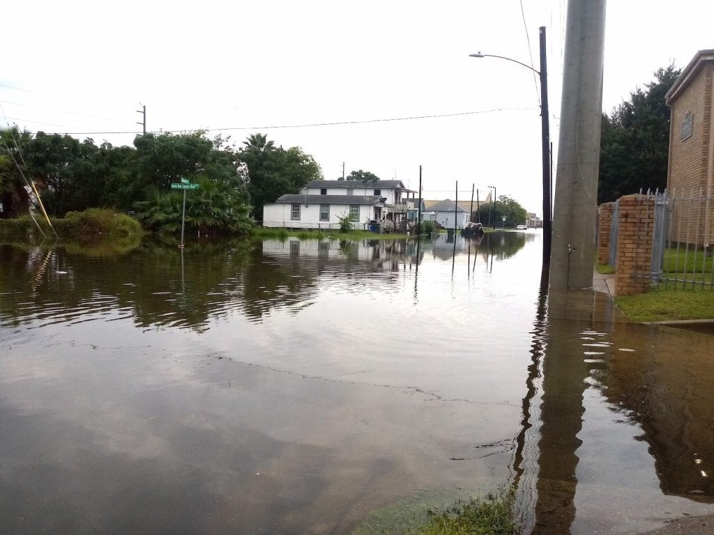 flooded segregated neighborhood