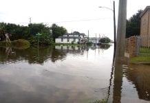 AFFH flooded neighborhood