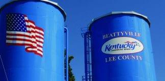 water storage tanks in Beattyville, Lee County, Kentucky