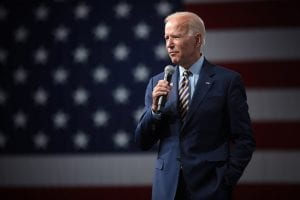 Joe Biden at an Iowa event, August 2019. How will he address the affordable housing shortage:
