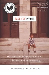 Cover image of Race for Profit, which shows a young black girl sitting on steps.