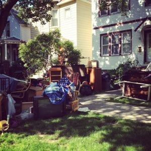 evictions: furniture and personal possessions outside a house