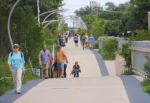 Image of Chicago's 606 trail, which many housing advocates say contributed to local gentrification
