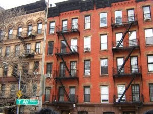 inclusionary housing: illustration photo is of city apartment buildings