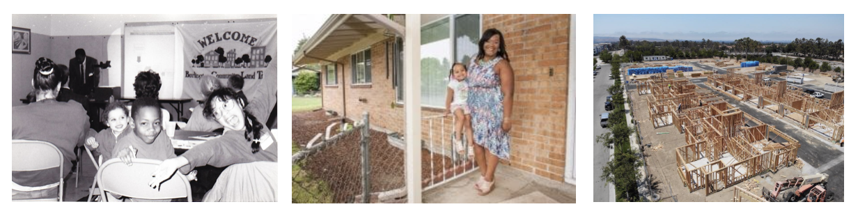 Photos that shows the history of community ownership of land.