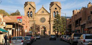 A street in Santa Fe, New Mexico.